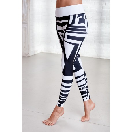 vivae-tiger-white/black-leggings